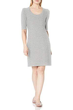 Daily Ritual Cozy Knit-Abito a Spalla sbuffata Dresses, Heather Grey Marl, US S