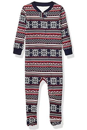 Amazon Baby And Toddler Zip-Front Footed Sleeper Infant Sleepers, Navy Fairisle, 3T
