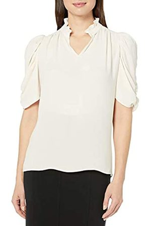 Lark & Ro Half Sleeve Ruffle Neck Woven Blouse Dress-Shirts, Reebok Cardio Motion, US
