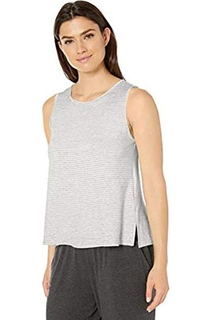Amazon Essentials Lightweight Lounge Terry Swing Tank Pajama-Tops, Grey Heather Stripe, US XXL