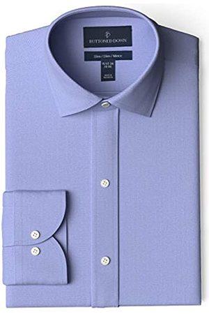 """Buttoned Down Marchio Amazon - , camicia elegante da uomo, classica, slim fit, colletto con bottoni, tinta unita, in cotone Supima, non necessita di stiratura, , 15"""" Neck 36"""" Sleeve"""