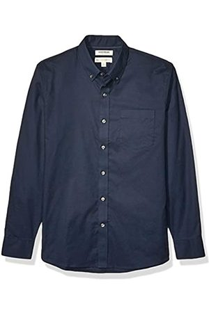 Goodthreads Standard-Fit Long-Sleeve Stretch Oxford Shirt Camicia Che Si abbottona, Marina Militare, S