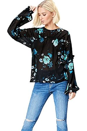 FIND Marchio Amazon - Blusa a Manica Lunga con Rouche Donna, , 44, Label: M