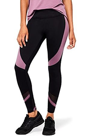 AURIQUE Donna Leggings - Marchio Amazon - Leggings Sportivi a Vita Alta Colour Block Donna, , 40, Label:XS