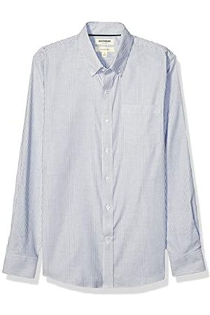 Goodthreads Slim-Fit Long-Sleeve Stretch Oxford Shirt Camicia, Uomo, Denim Blue Bengal Stripe, L