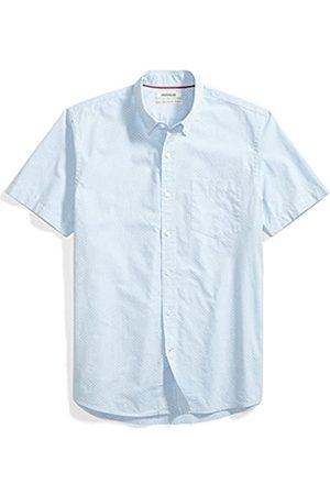 Goodthreads Standard-Fit Short-Sleeve DOT Print Shirt Camicia, Blue/White, L