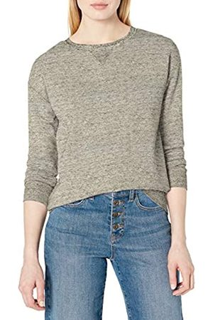 Daily Ritual Terry Cotton And Modal Crewneck Sweatshirt Athletic-Shirts, Heather Grey Spacedye, US L