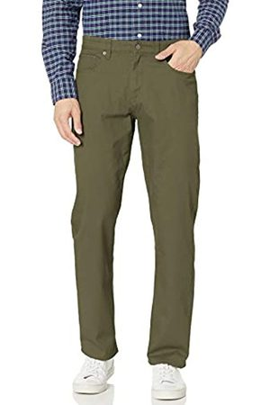 Amazon Relaxed-Fit 5-Pocket Stretch Twill Pant Pantaloni Casual, Olive, 29W / 34L