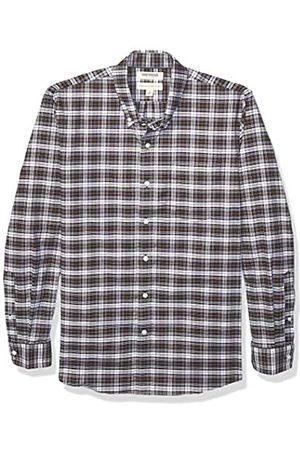 Goodthreads Standard-Fit Long-Sleeve Stretch Oxford Shirt Camicia Che Si abbottona, Purple White Check, L L Tall