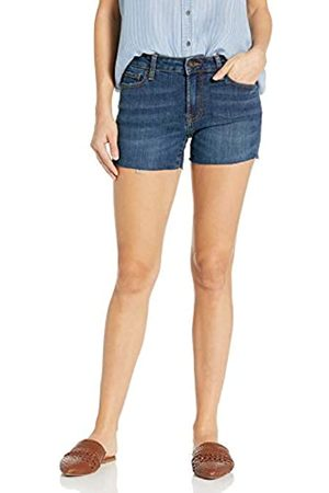 Goodthreads Denim Raw Edge Short Shorts, Deep Blue, 26