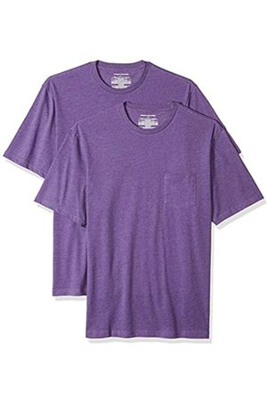 Amazon Confezione da 2 magliette a maniche corte da uomo, vestibilità comoda, con taschino, , US L
