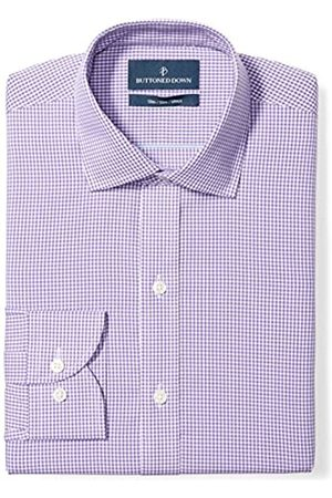 """Buttoned Down Slim Fit Spread Collar Pattern Camicia, , 17"""" Neck 35"""" Sleeve"""