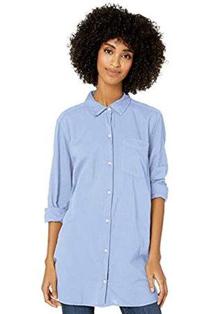 Goodthreads Lightweight Poplin Long-Sleeve Button-Front Shirt Dress-Shirts, Light Blue Dobby DOT, US L