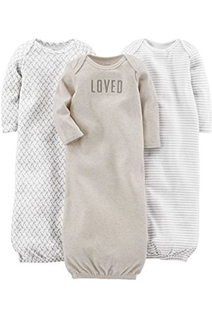Simple Joys by Carter's Baby - Vestaglia in cotone, confezione da 3 ,Grey/White ,Newborn