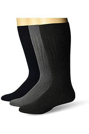Buttoned Down Marchio Amazon - , confezione da 3 calzini di alta qualità, da uomo, morbidi e setosi, , US Shoe Size: 12-16
