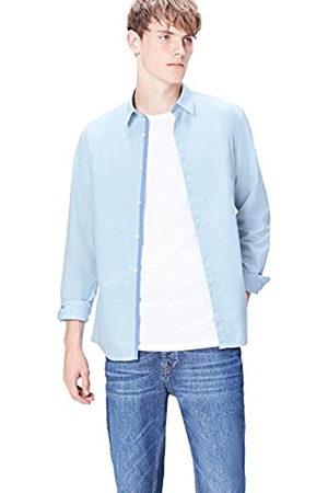 FIND Marchio Amazon - Camicia in Cotone Slim Fit Uomo, , S, Label: S