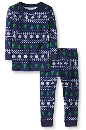 Moon and Back 2 Piece Long Sleeve Set Infant-And-Toddler-Pajama-Sets, Inverno Fair Isle, 10 annoni