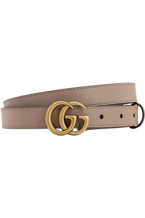 "Gucci Cintura ""gg Marmont"" In Pelle 20mm"