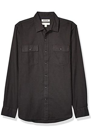 Goodthreads Standard-Fit Long-Sleeve Plaid Twill Shirt Button-Down-Shirts, Scuro, Small