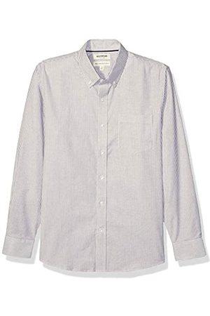 Goodthreads Standard-Fit Long-Sleeve Stretch Oxford Shirt Camicia Che Si abbottona, Burgundy Bengal Stripe, M Tall
