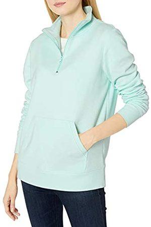 Amazon Donna Giacche estive - Long-Sleeve Lightweight French Terry Fleece Quarter-Zip Top Outerwear-Jackets, Aqua, S