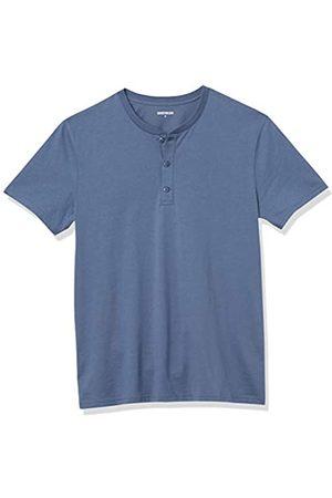 Goodthreads Uomo Denim - Cotone a Maniche Corte Henley Shirts, Denim, US XXL