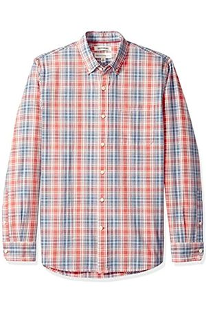 Goodthreads Standard-Fit Long-Sleeve Pattern Chambray Camicia, , US S