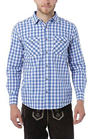 Lower East Camicia da uomo, a quadri, /Bianco, XL