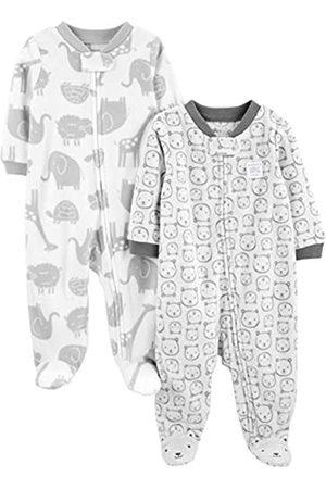 Simple Joys by Carter's Baby - Confezione da 2 pile con piedini per dormire e giocare ,Animals Green/Bears ,Preemie