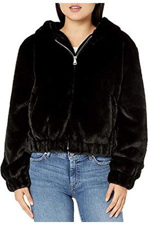 The Drop Sloane, giacca in stile bomber, con zip frontale e cappuccio, in finta pelliccia, , XL