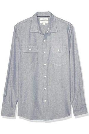 Goodthreads Slim-Fit Long-Sleeve Plaid Herringbone Shirt Camicia Che Si abbottona, Black White, XS