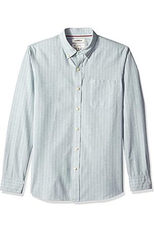 Goodthreads Standard-Fit Long-Sleeve Pinstripe Chambray Camicia, , US