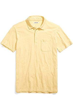 Goodthreads Marchio Amazon - Short-Sleeve Slub Polo, Pampas/Yellow, L