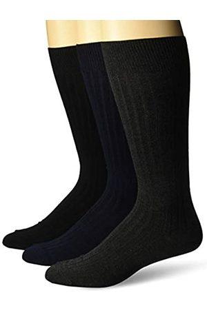 Buttoned Down Marchio Amazon - , confezione da 3 calzini di alta qualità, da uomo, morbidi e setosi, , US Shoe Size: 8-12