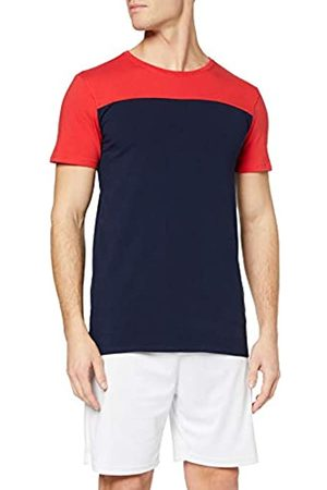 Activewear T-shirt Effetto Colour-Block Uomo, Blau , X-Large