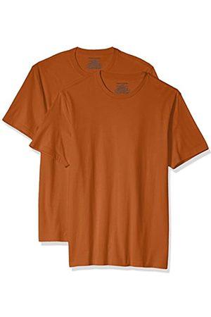 Amazon 2-Pack Slim-Fit Short-Sleeve Crewneck T-Shirt Fashion-t-Shirts, Orange Heather, US XXL