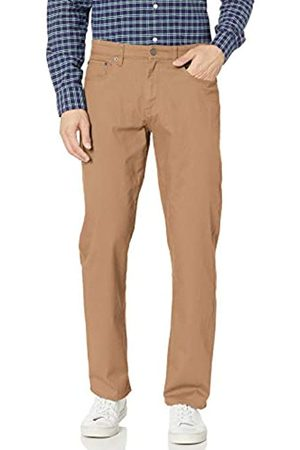 Amazon Relaxed-Fit 5-Pocket Stretch Twill Pant Pantaloni Casual, Dark Khaki, 33W / 28L