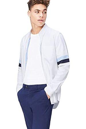 FIND Uomo Polo - Camicia a Righe in Cotone Slim Fit Uomo, , Large