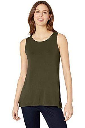 Amazon Solid Swing Tank Camicia, Dark Olive, US M -L