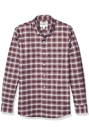 Goodthreads Slim-Fit Long-Sleeve Stretch Oxford Shirt Camicia, Uomo, Red White Check, L