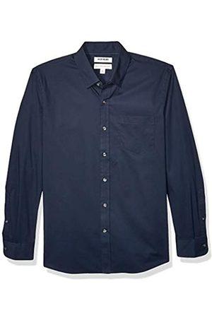 Goodthreads Marchio Amazon - , camicia da uomo, a maniche lunghe, popeline elasticizzato e comodo, facile da lavare, Standard Fit, Dainty, US S