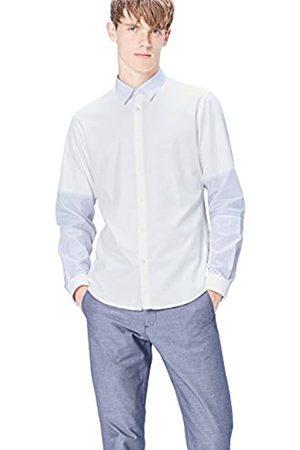 FIND Marchio Amazon - Camicia Slim Fit con Inserti a Fantasia Uomo, , XL, Label: XL