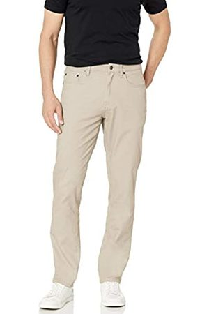 Amazon Athletic-Fit 5-Pocket Stretch Twill Pant Pantaloni Casual, Stone, 35W / 28L