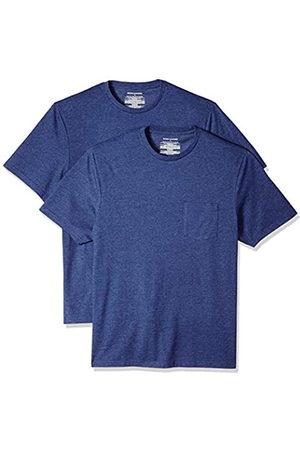 Amazon Confezione da 2 magliette a maniche corte da uomo, vestibilità comoda, con taschino, , US XXL