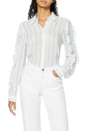 FIND Marchio Amazon - Camicia con Rouches sulle Maniche Donna, , 50, Label: XXL