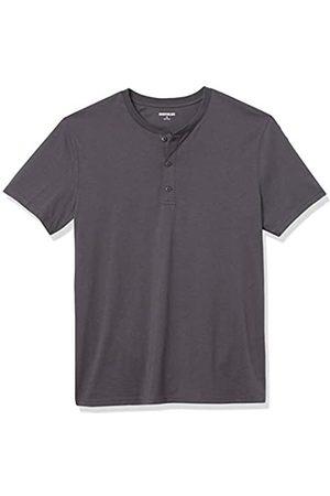 Goodthreads Cotone a Maniche Corte Henley Shirts, Scuro, US M