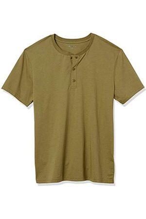 Goodthreads Cotone a Maniche Corte Henley Shirts, Medio, US L