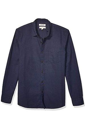 Goodthreads Marchio Amazon - , camicia da uomo a maniche lunghe, in flanella spazzolata, Standard Fit, Solid Navy, US XS