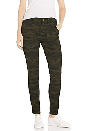 Daily Ritual Stretch Cotton/Lyocell Zip-Pocket Utility Pant Work Pants, Olive Camo, US 4