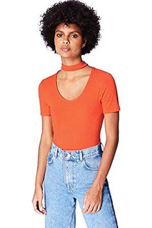 FIND Marchio Amazon - T-shirt Girocollo Donna, , 48, Label: XL